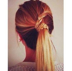 ombre plait tie up hair