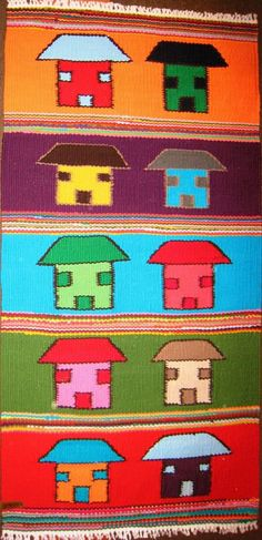Multicoloured homes