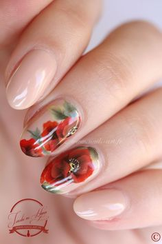 30 Lovable Peony Nails #naildesignideaz #naildesign #peony ♥ If you enjoyed my pin, pls visit us at http://naildesignideaz.com/ ♥
