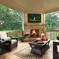 Back porch. I'd never go inside!