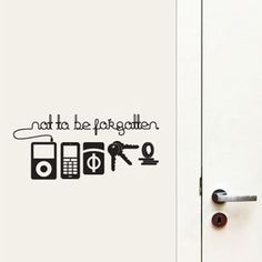 Vinyl Wall Decals Remind You of What You Forgot Before Leaving