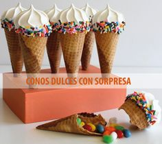 conos dulces con sorpresa