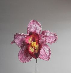 Orquidea de ganchillo