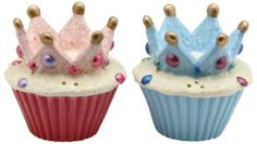 Appletree Design Crown Cupcake Salt and Pepper Set, 2-1/2-Inch by Appletree Design inc. $15.53. Hand wash only, do not put in dishwasher. Unique and colorful, add fun and whimsy to your kitchen and home décor. Comes gift boxed, will make a great gift for yourself or someone special. Functional and decorative salt and pepper set. Ceramic and dolamite material. constructed with quality and durability in mind.. Appletree Design is noted for its collection of whimsi...