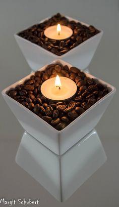 coffee candlelight