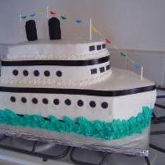 idea for cruise ship cake Bon Voyage Cake, Bon Voyage Party, Nautical Wedding Cakes, Nautical Cake, Cruise Ship Party, Sailor Party, Take The Cake, Unique Cakes, Novelty Cakes