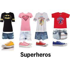 superheros - Polyvore Just because my boyfriend loves super heros! lol