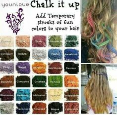 Do like to put a little color in your hair. Try it with Younique Mineral Pigments.