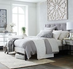 Home Interior Catalogo 40 Grey and White Bedroom Ideas.Home Interior Catalogo 40 Grey and White Bedroom Ideas Home, Small Apartment Bedrooms, Bedroom Interior, Apartment Bedroom Decor, Upholstered Bed Frame, Guest Bedroom Decor, Remodel Bedroom, Bedroom Headboard, Bedroom Wall Colors