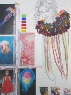 Textiles Sketchbook, Fashion Design Sketchbook, Fashion Design Portfolio, Arte Sketchbook, Fashion Sketches, Fashion Illustration Portfolio, A Level Textiles, Motifs Textiles, Design Textile