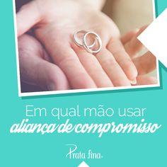 Quando chega a hora de colocar o anel no dedo, fica aquela dúvida cruel: em qual mão se usa aliança de namoro? Clique aqui e descubra! <3