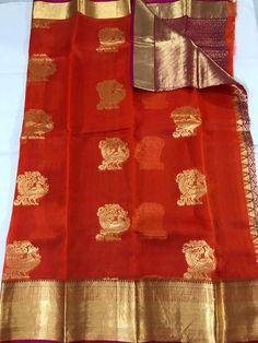 Lakshmi Sarees, Saree Color Combinations, Kanchi Organza Sarees, Mirror Work Saree, Saree Blouse Patterns, Work Sarees, Traditional Sarees, City Style, Blouse Designs