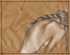 Wingless - original artwork - $125 - http://smokeandhoney.storenvy.com/products/1098838-wingless-original-drawing