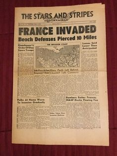 D Day - 1944 World War II - Stars And Stripes Newspaper - Italy Edition | eBay
