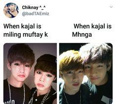 Hahahahhaha 😂😂😂 #kajal #BTS #memes