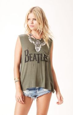 THE BEATLES MUSCLE TANK
