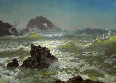 Seal Rock California, Albert Bierstadt