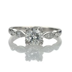 New York, NY Jewelry, engagement rings - Leigh Jay Nacht - Replica Art Deco Engagement Ring - 1305-04