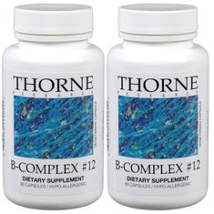 Thorne Research  BComplex 12  60 Vegetarian Capsules  2 Pack -- To view further for this item, visit the image link. (This is an affiliate link) #NutritionalSupplements