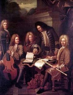 Andre Bouys, The Ordinary of the king's music, 1710 - Antoine Forqueray sits on the left http://www.musicologie.org/Biographies/forqueray_antoine.html