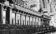 St. Paul's Cathedral Choir Loft--Grinling Gibbons-pilasters, paneling, carvings-Restoration