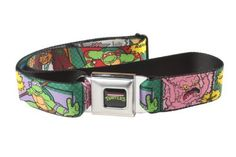 Bunny Superhero Multi Pastel 32-52 Inches in Length Buckle-Down Seatbelt Belt 1.5 Wide