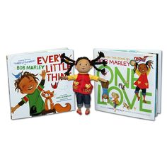Bob Marley One Love Book, Doll, and Every Little Thing Book Bundle - Children's Books written by Cedella Marley