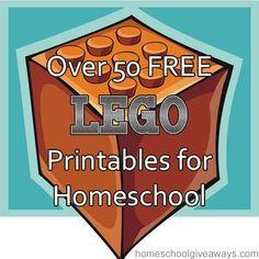50 FREE Lego Printables for Homeschool!