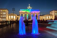 """The Guardians of Time (""""Wächter der Zeit"""" in German) are ghost-like and mystical-looking sculptures created by the Austrian light artist Manfred Kielnhofer."""