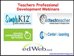 Taking Control of Your own Professional Development Using These Free Webinar Resources ~ Educational Technology and Mobile Learning