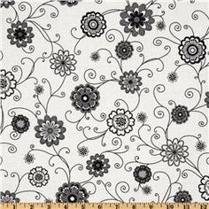 White, gray, black fabric