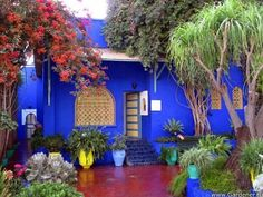 Jardin Majorelle in Marrakesh. Yes, the color is superb, but it is not Latin, it is Moroccan.