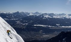 A skier heads down a slope on Seegrube mountain above the western Austrian city of Innsbruck on March 10. (Dominic Ebenbichler/Reuters) BGlobe - The Big Picture