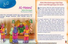 Kisah Asma'ul Husna Al-Maani Kids Story Books, Stories For Kids, History Of Islam, Islamic Messages, Kids And Parenting, Quran, Doraemon, Education, Muslim