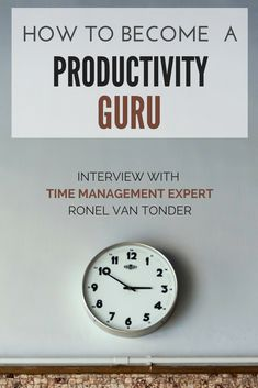 This is an interview with productivity expert and author Ronel van Tonder. Definitely wortha look to gather some thoughts on how to improve your productivity. #timemanagement #productivity