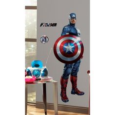Avengers Captain America Peel & Stick Giant Wall Decal