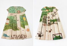 Elisabeth Lecourt's Les Robes Géographiques series