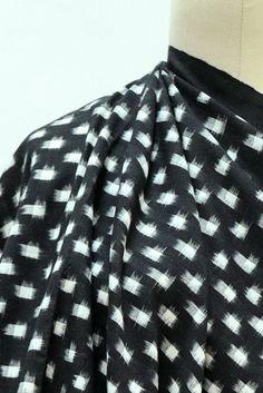Square Dot Cotton Ikat Woven