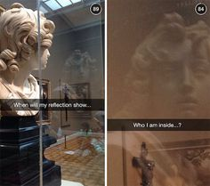 These 35 Genius Captions Make Famous Art Hilarious. Humour Snapchat, Snapchat Posts, Funny Snapchat, Snapchat Ideas, Really Funny, Super Funny, The Funny, Funny Art, Funny Memes