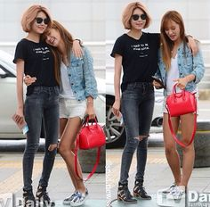 July 2015 SNSD Girls Generation GG Airport Fashion Style Soshistyle casual summer sooyoung and Yuri