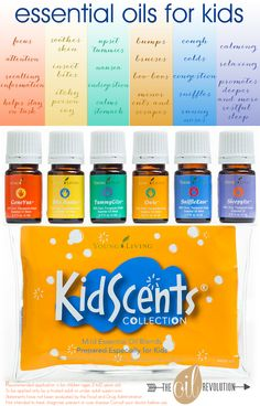 Introducing the KidScents® Oil Collection from Young Living- specially designed and prediluted essential oils for kids!