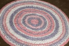 Rag rug could be made out of old sheets, fabric scraps, or even old clothes