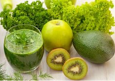 яблоко авокадо зеленый салат киви 2