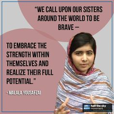 Malala Yousafzai was shot by the Taliban one year ago for speaking out about her right -- and the right of every child -- to an education. The Taliban failed to silence her; on the contrary, she spoke at the United Nations on her 16th birthday and yesterday her book, I Am Malala, was released. Show your support for universal education and her Malala Fund to support girls like her so that they can also realize their full potential. Explain why you stand with Malala and use the hashtag…