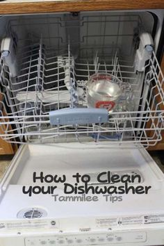 """Run a cycle with vinegar to clean your machine. Just like you descale a coffee pot, you need to de-gunk your dishwasher every now and then, too. Forte recommends placing a large glass measuring cup filled with two cups of vinegar on the top rack and then running the machine as usual — no detergent, no heat dry. """"The vinegar will mix with the water as it circulates,"""" Forte says, which will help deep-clean your appliance."""