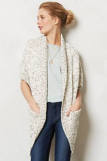 Anthro Flickered Cacoon cardigan $88