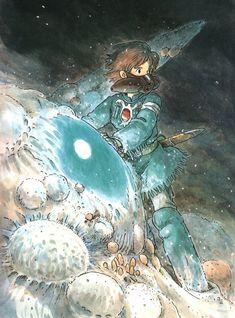 Nausicaa of the Valley of the Wind Hayao Miyazaki Studio Ghibli Anime W, Art Anime, Anime Kunst, Fanarts Anime, Manga Art, Anime Girls, Hayao Miyazaki, Studio Ghibli Films, Art Studio Ghibli