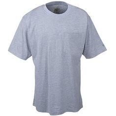 Berne Apparel Men's Grey Pocket Tee Shirt BSM16 GREY