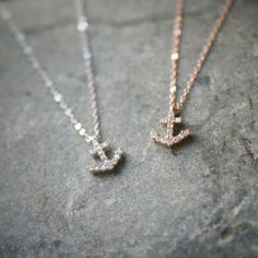 Swarovski Anchor Necklace Sterling Silver Anchor Charm Necklace from Kellinsilver.com on Wanelo
