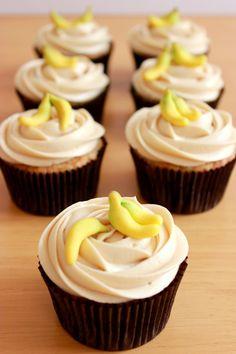 Cupcakes de plátano / Banana Cupcakes